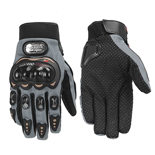 Guantes de Moto Impermeables Guantes de Invierno Moto Guantes de Dedo Completo Protección de Pantalla táctil Guantes Largos de Fibra de Carbono-a36-M