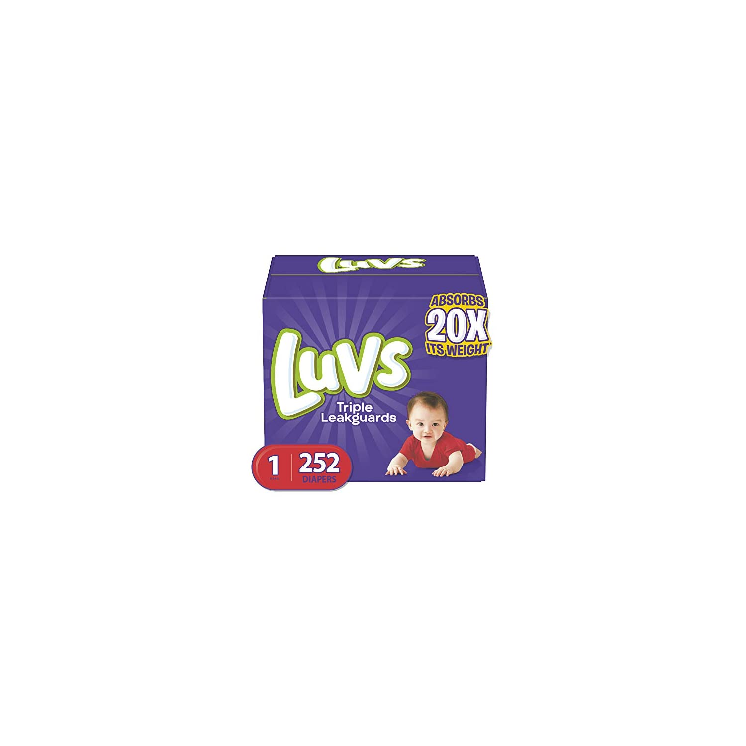 Diapers Size 2, 228 Count – Luvs Ultra Leakguards Disposable Baby Diapers, ONE MONTH SUPPLY (Packaging May Vary)