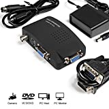 MakeTheOne CCTV Camera BNC S Video VGA to Laptop Computer PC VGA Monitor Converter Adapter Box