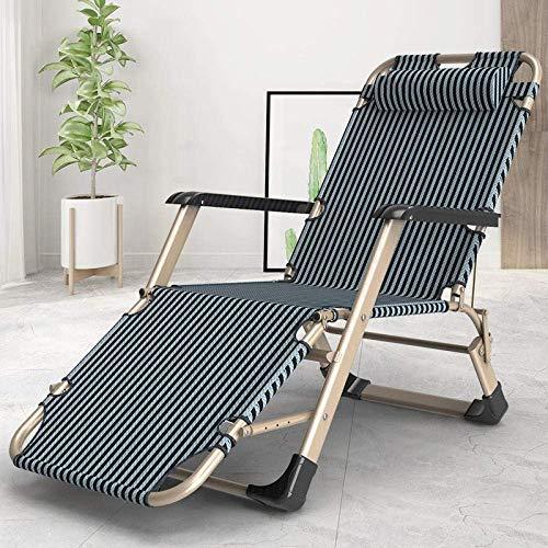 FVGBHN Tumbona plegable plegable para jardín, reclinable, reclinable plegable, sillón de jardín con gravedad cero, reclinable para acampar al aire libre, viaje de Champán