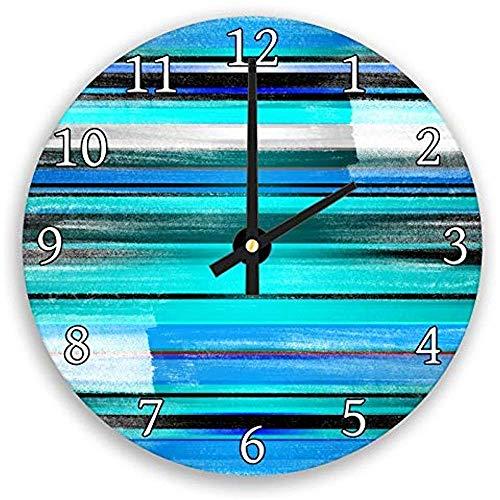 Desconocido 0 Azul Gris Verde Agua Negro Azul Marino Moderno Relojes de Pared de Madera Decorativo silencioso para salón decoración casa Arte de la Pared