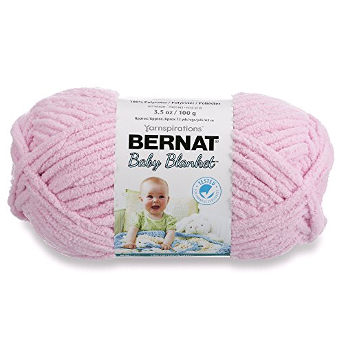 Bernat  Baby Blanket Yarn - (6) Super Bulky Gauge  - 3.5oz -  Pink  - Single Ball  Machine Wash & Dry (454533)