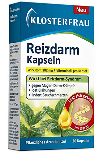 Klosterfrau Reizdarm Kapseln 20 Stück wirkt bei Reizdarm-Syndrom, Magen-Darm-Krämpfe, löst Blähungen