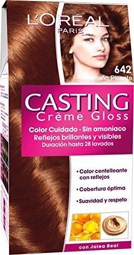 LOréal Paris Coloración Sin Amoniaco Casting Creme Gloss 642 castaño picante