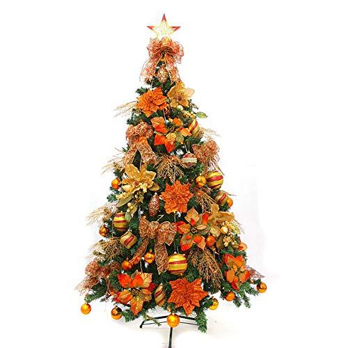 KKLTDI 5Ft Pre-decorated Alpine Christmas Tree, Pre-Lit Premium Spruce Hinged With Flocked Snow Artificial Christmas Tree For Indoor Christmas Pine Tree-b 150cm(59inch)