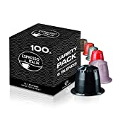 Nespresso Compatible Capsules | Variety Pack 100 Coffee Pods |10 x 10 Pack | Espresso Italia