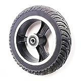 SUIBIAN Neumáticos de Scooter eléctricos, neumáticos de Hombro a Prueba de explosiones de 200x50 All Ruedas, Accesorios de Scooter de 8 Pulgadas Opcionales,10mm Front Hollow Tires
