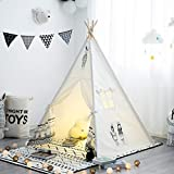 TreeBud Teepee Tent for Kids, Classic Boho Pattern Play Tent for Girls and Boys, Indian Children's Playhouse for Indoor & Outdoor with Carry Bag