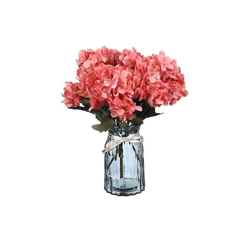 silk flower arrangements ultraoutlet 4 packs red silk hydrangea flowers with vase artificial hydrangea flowers bouquets arrangement centerpiece for weddings, baby showers, birthday parties, home office decor (red, 4)