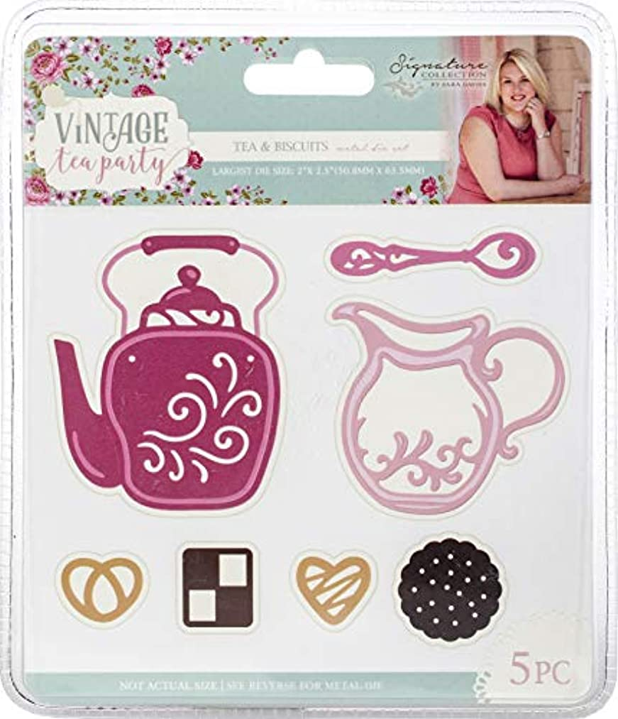 Crafter's Companion Sara Davies Signature Vintage Tea Party Dies-Tea & Biscuits