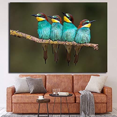 N / A HD gedruckte Vögel Poster Leinwand Wandkunst Modern Poster und Druck Gemälde Home Decor für Wohnzimmer Sofa Bilder ohne Rahmen 50x75CM a1