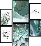Papierschmiede® Mood-Poster Set Green Love | 6 Bilder als
