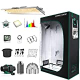 MARS HYDRO Grow Tent Kit Complete 2x4ft TSL 2000W LED Grow Light Dimmable Grow Tent Complete System, 24'x48'x70' Hydroponic Grow Tent 1680D Growing Tent Set Full Spectrum Grow Kit