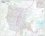 Greater Las Vegas NV Detailed Region Wall Map (55'x44' Laminated)