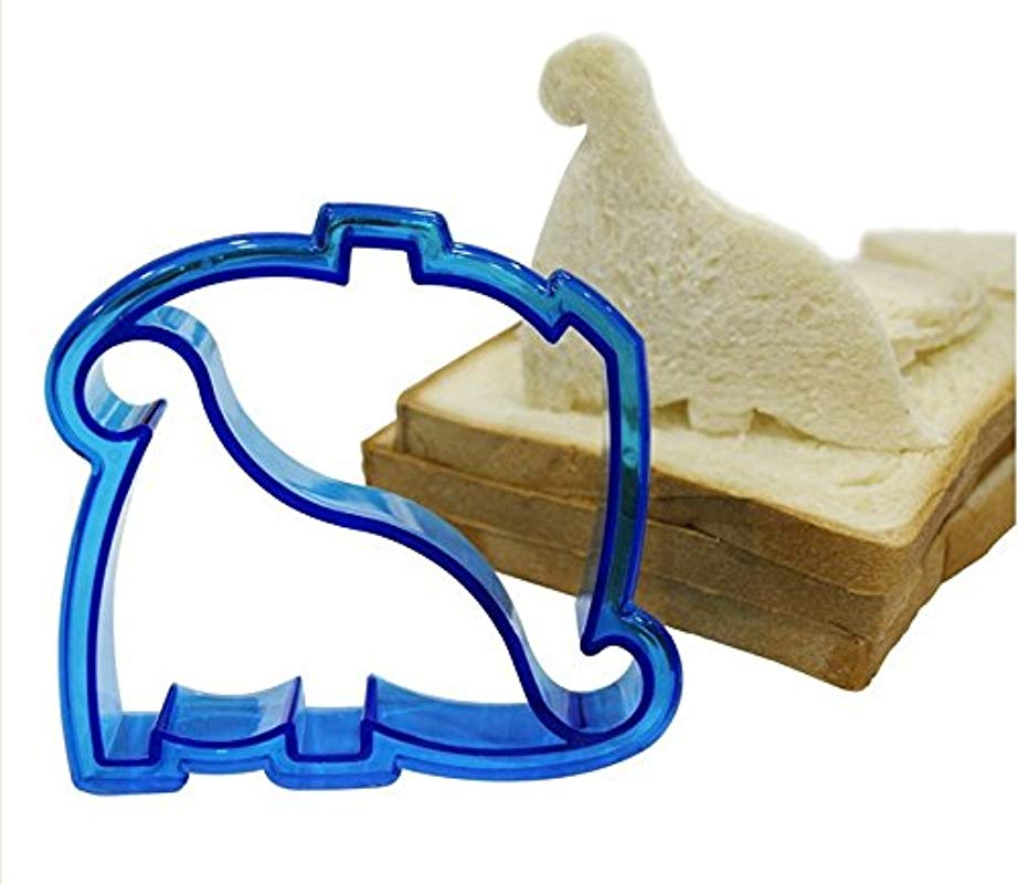Lunch Kids Sandwich Toast Cookies Bread Biscuit Cutter Dinosaur Crust Mold DIY Tool