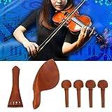 Langlebiger, rostfreier Jujube-Holz-Geigenbeschlag Musikzubehör Zubehör Geigen-Saitenhalter für Anfänger Oboist für jeden Geigen-Techniker(A+string)
