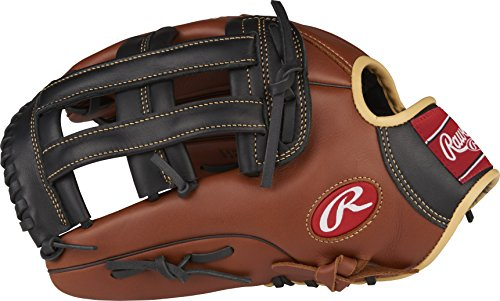 Rawlings Sandlot Series Leather Pro H Web Baseball Glove, Left Handed Throw , 12-3/4