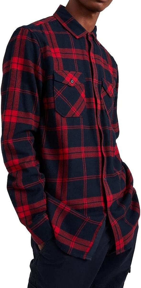 O'NEILL Check Flannel Shirt Medium Red AOP