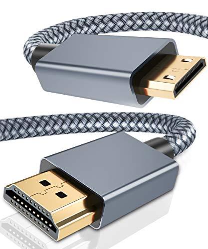 Mini HDMI auf HDMI Kabel 2M, Nylon Geflechten Mini HDMI Cable Unterstützung 4K 60Hz,1080P,3D,ARC für DSLR Camera,Camcorder,Graphics Video Card,Laptop,Pico Projector,Raspberry Pi Zero W,Neogeo