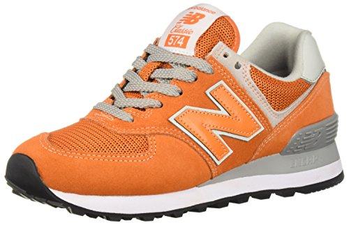 New Balance Herren 574v2 Turnschuh, Varsity Orange/White, 52 EU
