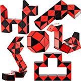 6 Packung Kunststoff Mini Schlangen Würfel, 24 Blöcke Mini Puzzle Würfel Schlangen Würfel Puzzle...