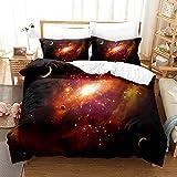 zhangjingjing1 Sky Galaxy Ropa de Cama Funda edredón y Funda de Almohada para niños Adultos Adultos (Color : 1, Size : 200x200cm)
