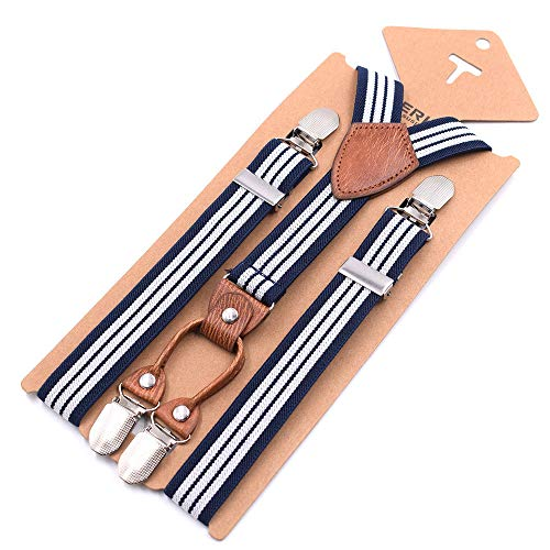 LLZGPZBD bretels riem kinderen strepen 4 clip Y type riem jongens en meisjes bretels