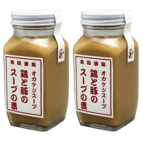 絶品!鶏と豚のスープの素 オカケン 日本製:300g × 2本セット