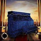 LXCS Piano Vertical Cubierta de Polvo Cubierta de Tela de protección, con el Taburete de la Cubierta Suave y Elegante Piano Cubierta Cubierta Protectora de la Cubierta del paño