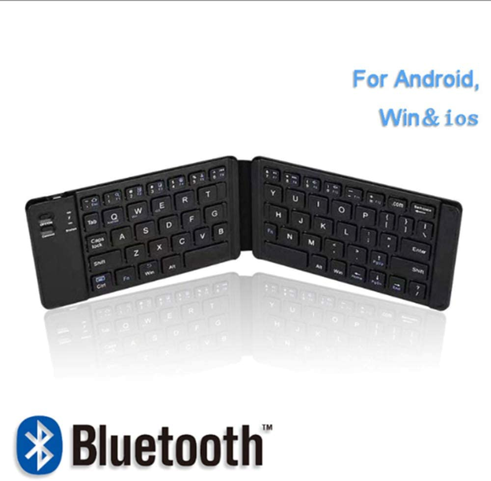 Foldable Wireless Tablet Keyboard Windows Systems,Black EMGOD Mini Bluetooth Keyboard Silent Compatible with Android iOS Built-in Rechargeable Lithium Battery
