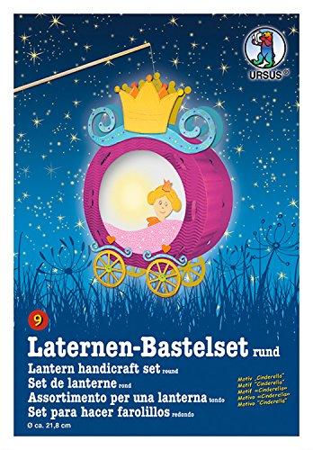 Ursus 18700009 - Laternen-Bastelset, Cinderella, ca. 35 x 24 cm