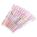 12 Uds bolígrafos bonitos de dibujos animados coloridos bolígrafos de tinta de gel para Bullet Journal escritura papelería material de oficina escolar 0,38mm(Rosa)