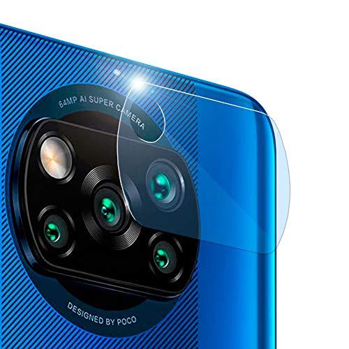 OcioDual Protector Camara Trasera Fibra de Vidrio 9H 2.5D Lente Posterior Flexible Sin Burbujas para Xiaomi Pocophone Poco X3