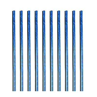 X AUTOHAUX 10pcs Ice Blue Car Air Conditioning Outlet Vent Grille Rim Moulding Trim Strip