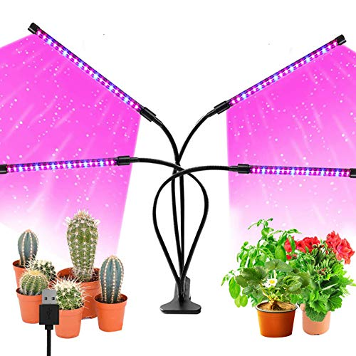 植物育成ライト 室内栽培ランプ LED タイマー機能 9段階調光 360°調節可能 日照不足解消 40w 観賞用 室内園芸 水草栽培 野菜工場