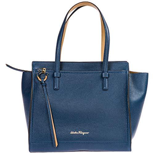 Salvatore Ferragamo borsa a spalla amy donna blu