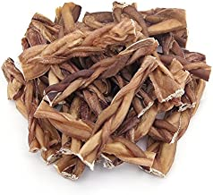 GigaBite 6 Inch Odor-Free Braided Bully Sticks (25 Pack) – USDA & FDA Certified All Natural, Free Range Beef Pizzle Dog Treat – By Best Pet Supplies