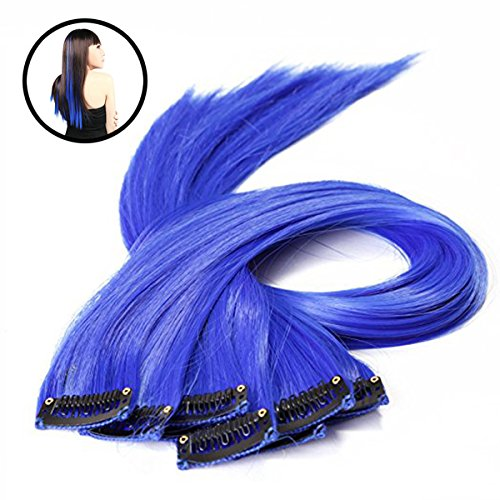 frcolor 10Stück Colored Highlight Synthetic Clip In den Haar-Extensions
