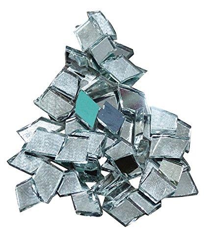 PEEGLI 40 Pièces Miroir Réfléchissant Mini Diamant Forme Petit Miroir en Verre pour La Maison Décorative