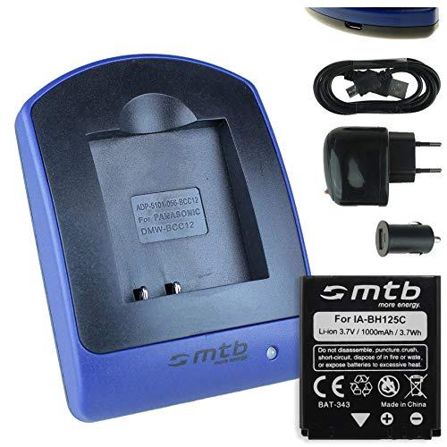 Batteria + Caricabatteria (USB/Auto/Corrente) per Samsung HMX-R10 / Pentax MX-1, X90 / Ricoh GR II, Caplio. / Sigma DP Merril. - v. lista