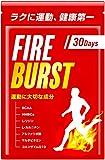 【FIRE BURST】 L-カルニチン BCAA L-リジン サプリメント 厳選素材 30日分