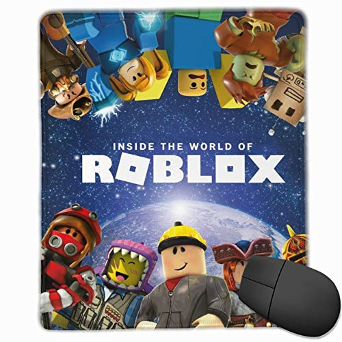 "Ro-b-lo-x Poster Computer Mouse Pad with Non-Slip Waterproof Rubber Mousepad for Computers Laptop Office & Home Gaming Mouse Pads for Kids Teens Adults 10""x12"""