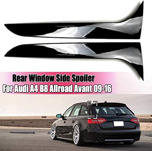 KQBAM Heckscheibe Seitenspoiler, Gloss Black Heckscheibe Seiten Spoiler Flügel Für Audi A4 B8 Allroad Avant 2009 2010 2011 2012-2016 Car-Styling Zubehör