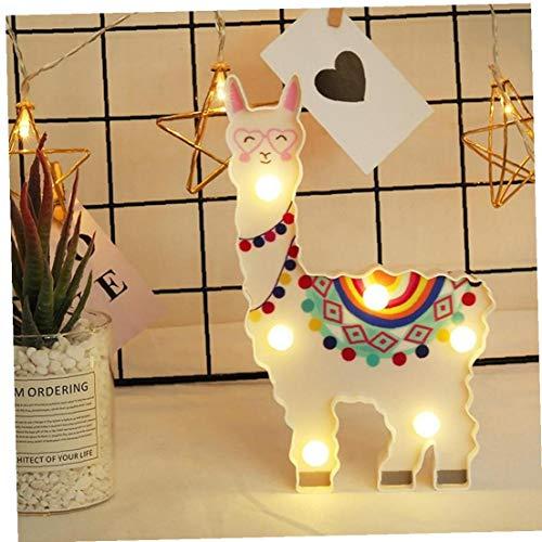 Forma Pintada de Color Noche Animal Luz Alpaca Modelado lámpara Decorativa Lámpara Colgante Luminaria para la decoración casera