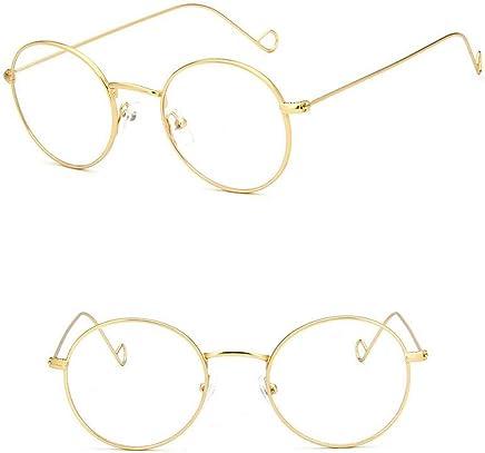 bbf865329 Vintage Round Gold Metal Eyeglass Frame Full Rim men women Oval Glasses Rx  able