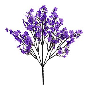 Artificial Flower for Party Home Decoration-1Pc Simulation Gypsophila Handmade Realistic Faux Silk Flower Lifelike Fake Babysbreath for Indoor – Purple
