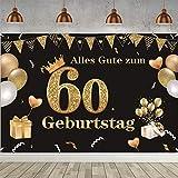 60. Geburtstag Dekoration Party Dekor, Stoff Schild Poster