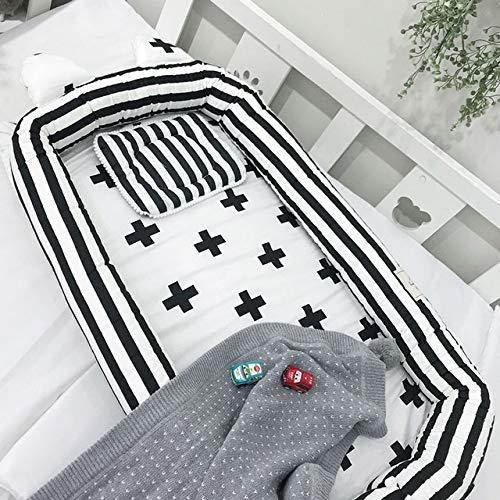 HMG Colchón portátil for bebés Simple Cartoon Cotton, TAMAÑO: 85 * 55 * 10 cm (Hoja Gris) (Color : Plus)