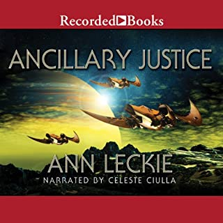 Ancillary Justice audiobook cover art