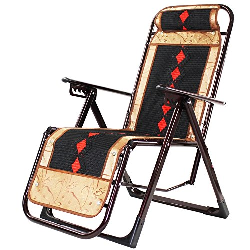 Lunch Break Chair Hospital Cama de Acompañamiento Silla Perezosa Tres Plegable Silla Mahjong Sofá de Ocio Bambú Plegable Ajustable Tres Puestos Oficina Comprar un cojín de algodón Hoy (Color : B)